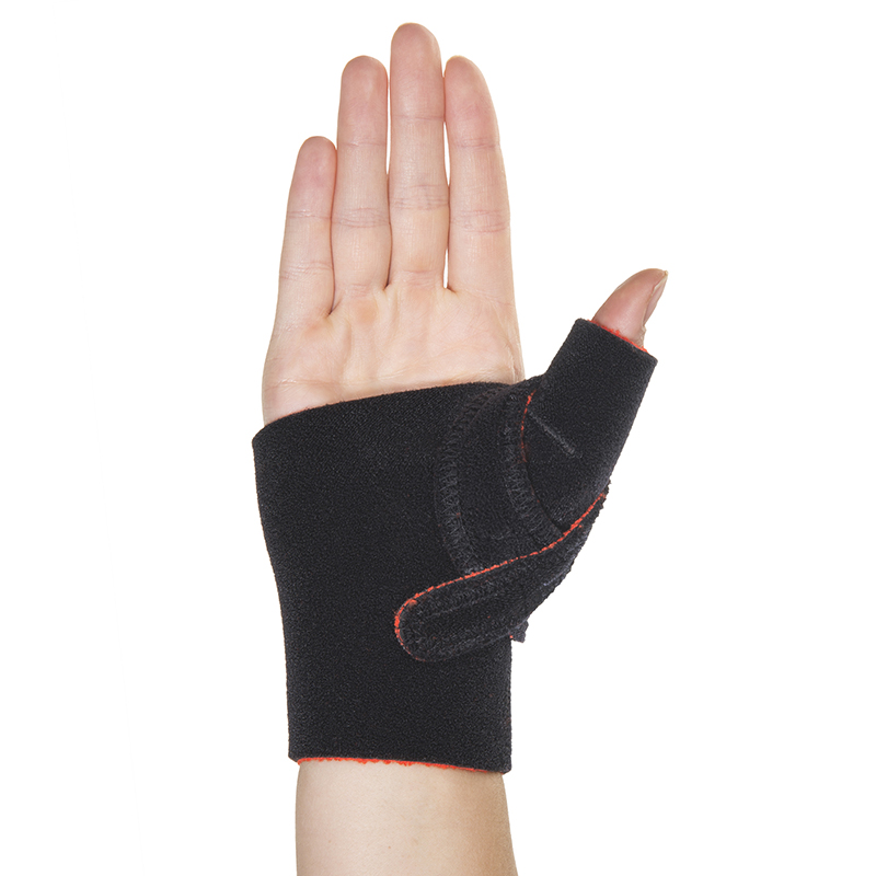 Thermoskin Cross-X CMC Thumb Splint, Left,  Black, $29.95  main product image