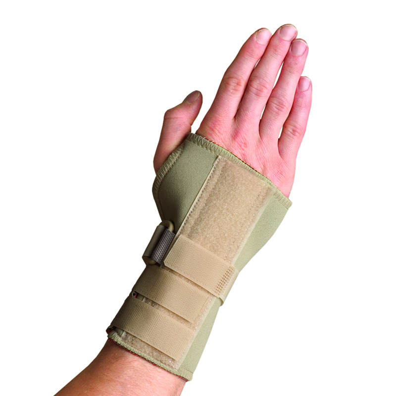 Thermoskin Dual Stabilizing Wrist Brace, Beige, RIGHT, $29.95  main product image