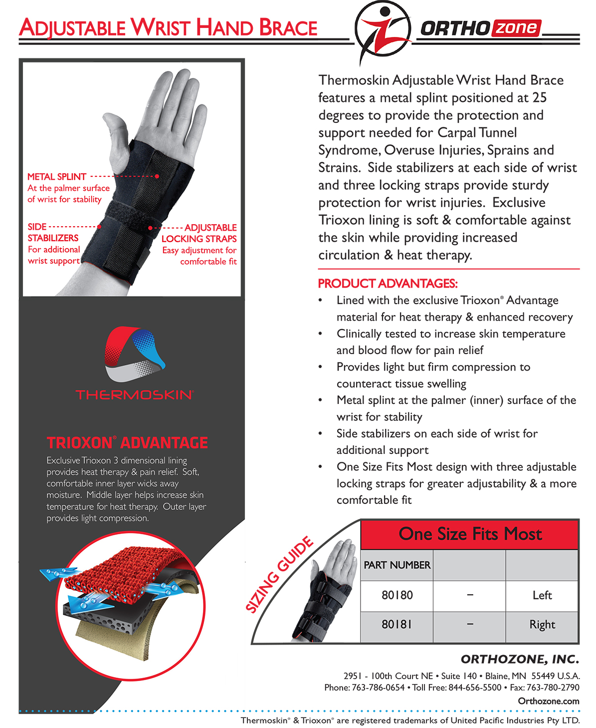 Thermoskin Adjustable Wrist Brace, Right, Black, $24.95 alternative product image 2