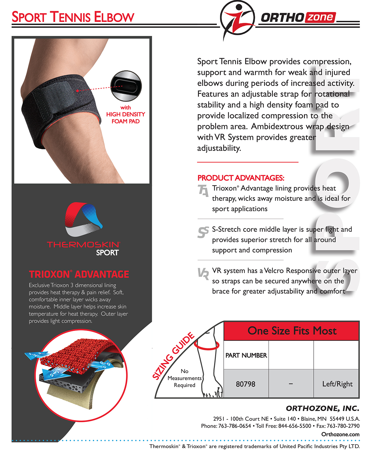 Thermoskin Sport Tennis Elbow, Black, One Size. $19.95 alternative product image 2