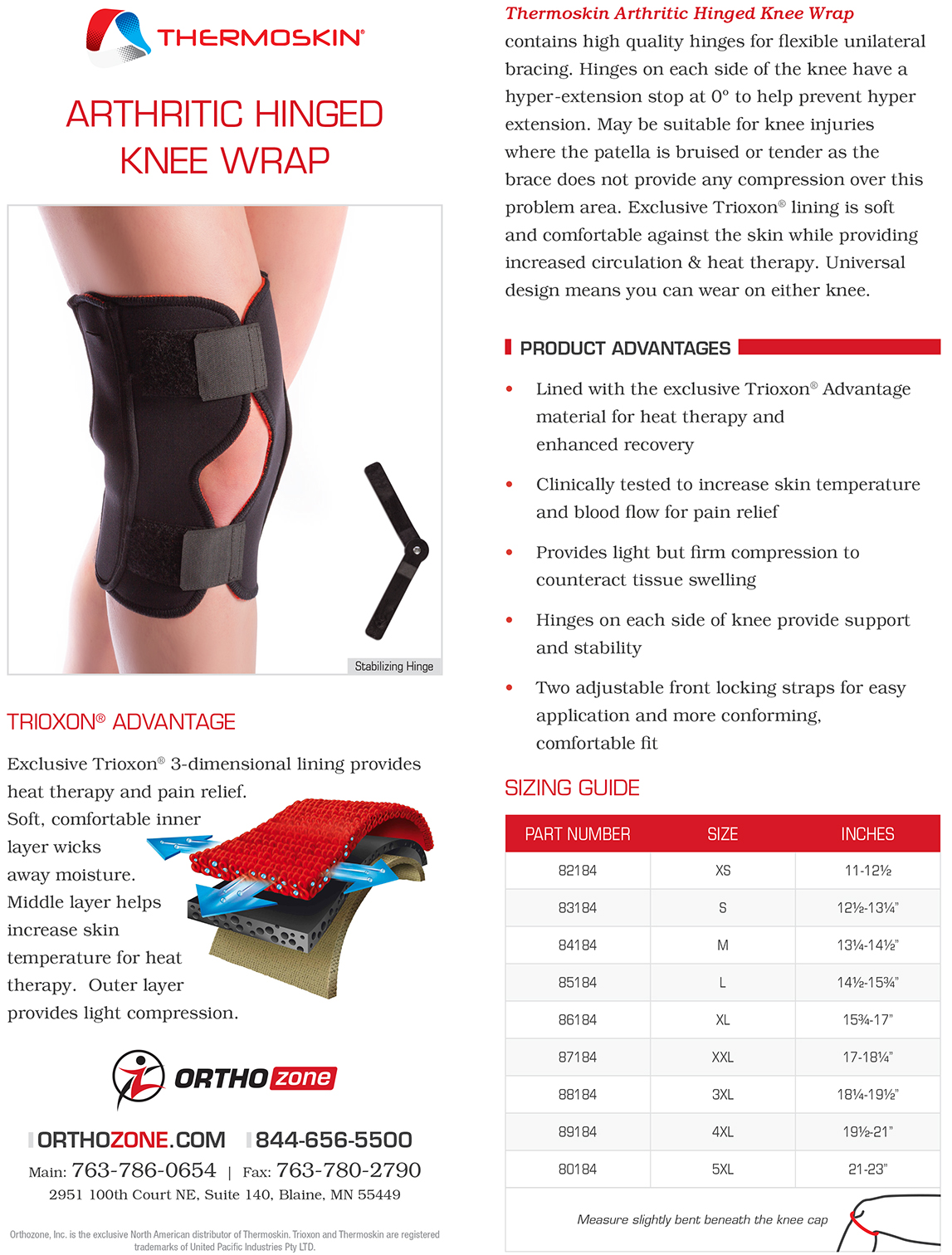Thermoskin Arthritic Hinged Knee Wrap, Black. $59.95-$79.95 alternative product image 2
