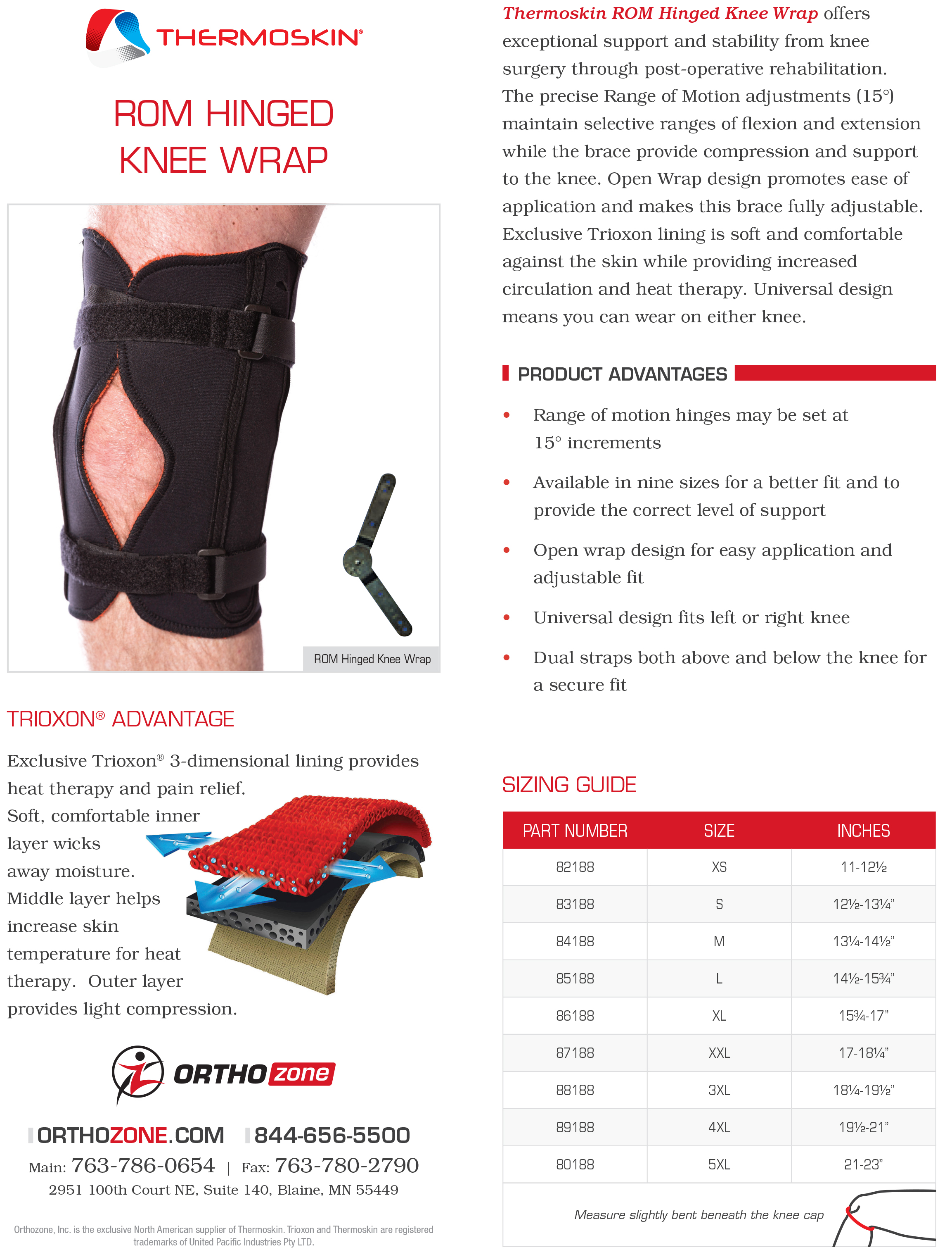 Thermoskin ROM Hinged Knee Wrap alternative product image 2
