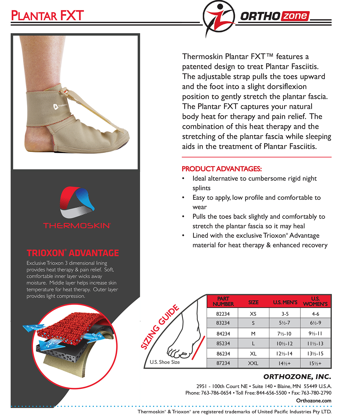Thermoskin Plantar FXT, Beige. $39.95 alternative product image 1