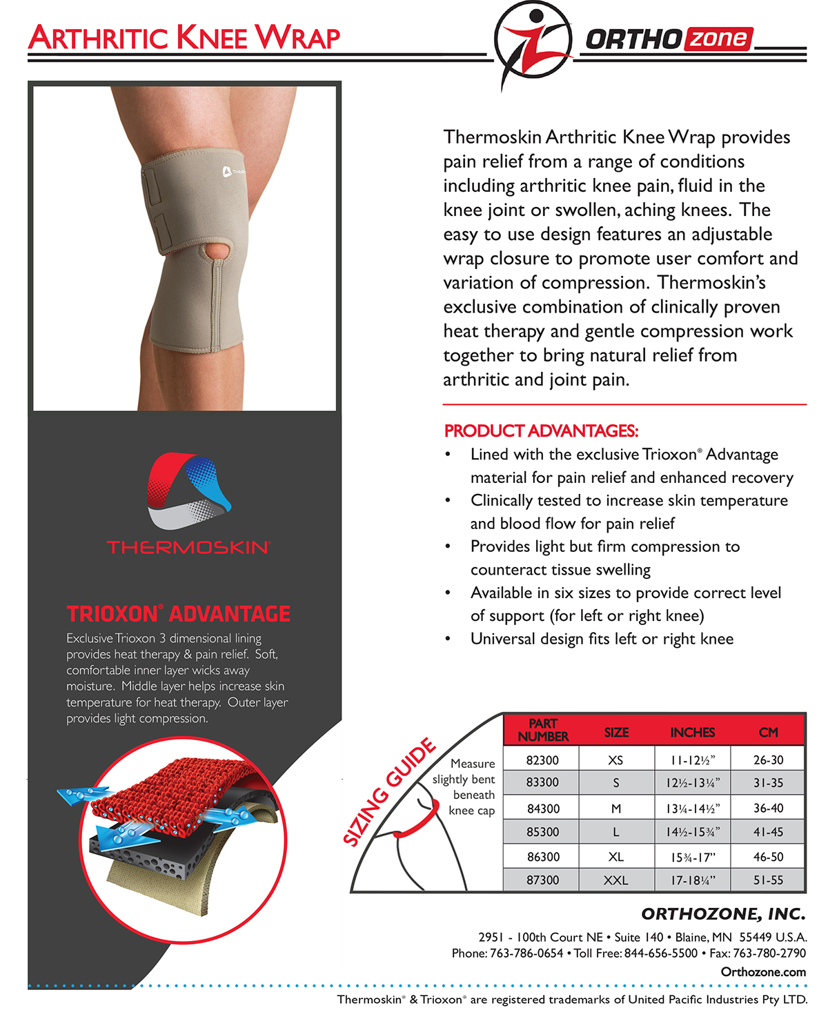 Thermoskin Arthritic Knee Wrap, Beige. $39.95 alternative product image 1