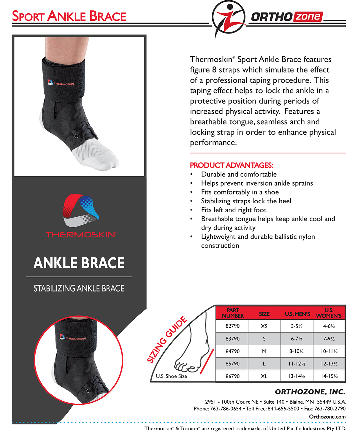 Thermoskin Sport Ankle Brace, Black. $24.95 alternative product image 2