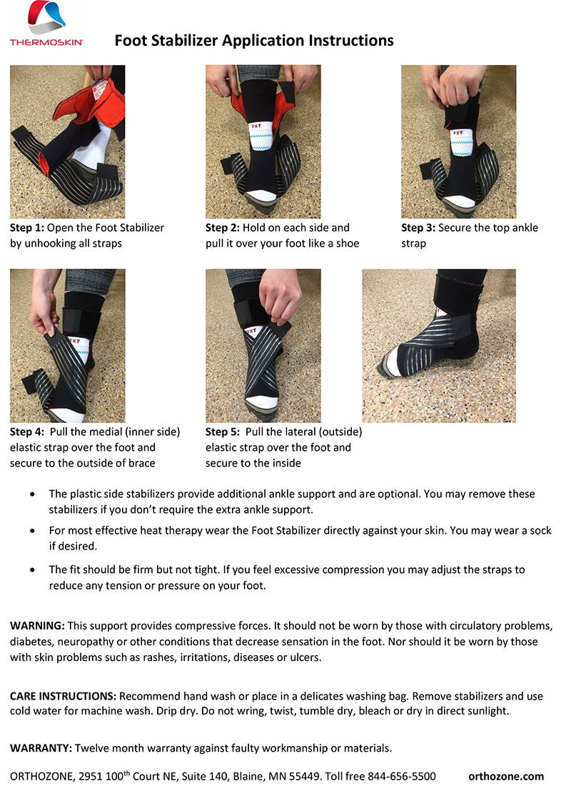Thermoskin Foot Stabilizer, Black. $39.95 alternative product image 4